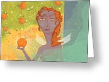 Orange Angel 1 Greeting Card