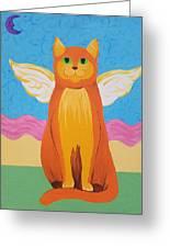 Orange Angel Cat Greeting Card