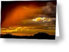 Orange Arizona Greeting Card