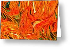 Orange Art Greeting Card by Colette V Hera Guggenheim