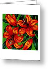 Orange Asiatics Greeting Card