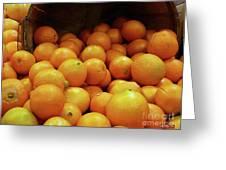 Orange Basket Greeting Card