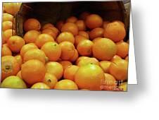 Orange Basket Greeting Card by Methune Hively