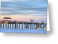 Orange Beach Pier Greeting Card by JC Findley