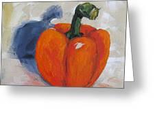 Orange Bell Pepper Greeting Card by Torrie Smiley