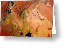 Orange-brown Series No. 1 Greeting Card