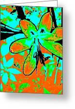 Orange Burst Flower Greeting Card