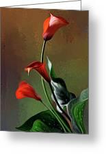 Orange Calla Lily Greeting Card