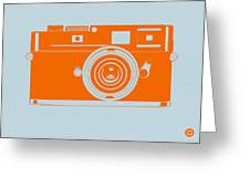 Orange Camera Greeting Card by Naxart Studio