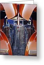 Orange Chevrolet Grille Greeting Card