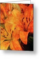 Orange Cluster 9225 Idp_2 Greeting Card