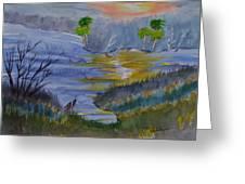 Orange Creek At Sunrise Greeting Card