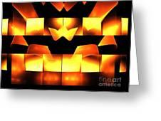 Orange Crown Greeting Card