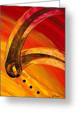 Orange Expressions Greeting Card by Sharon Cummings