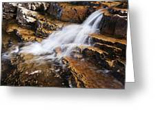Orange Falls Greeting Card