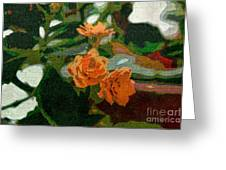 Orange Flower Abstract Greeting Card