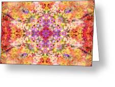 Orange Flower Mandala Greeting Card