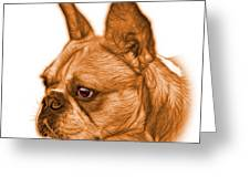 Orange French Bulldog Pop Art - 0755 Wb Greeting Card