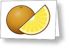 Orange Fruit Outlined Greeting Card