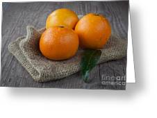 Orange Fruit Greeting Card by Sabino Parente