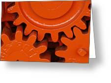 Orange Gear 2 Greeting Card