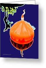 Orange Globe Greeting Card