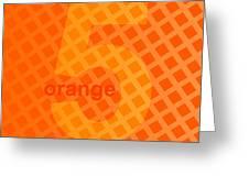 Orange God Astante Greeting Card