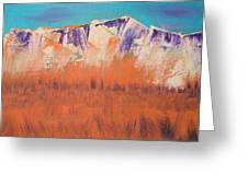 Orange Grass Greeting Card