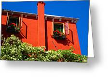 Orange House In Venice Greeting Card