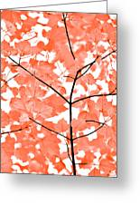 Orange Leaves Melody  Greeting Card