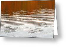 Reflections Of Fall Leaves And Sunlit Ripples On Jamaica Pond Greeting Card
