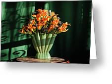 Orange Lilies In June Greeting Card