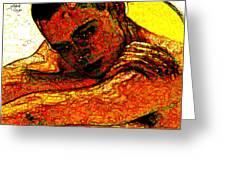 Orange Man Greeting Card