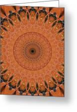 Orange Mandala Greeting Card