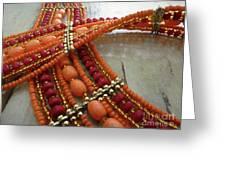Orange Necklace Greeting Card