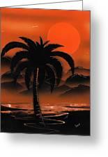 Orange Oasis Greeting Card