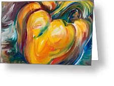 Orange Pepper Greeting Card