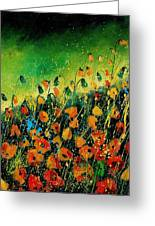 Orange Poppies 459080 Greeting Card