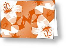 Orange Poster Lilies Greeting Card
