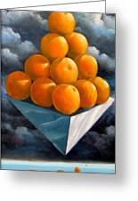 Orange Pyramid In Space Greeting Card