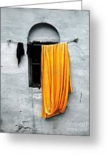 Orange Sari Greeting Card
