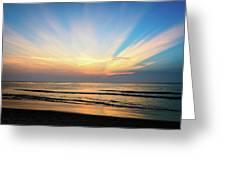 Orange Seas Greeting Card