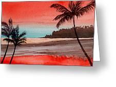 Orange Sky Of Kauai Greeting Card