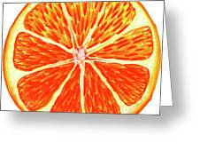 Orange Slice Greeting Card