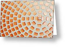 Orange Squares Greeting Card