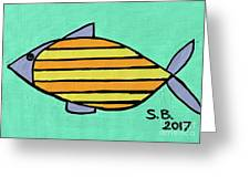 Orange Stripes Greeting Card