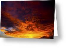 Orange Sunset 1.1 Greeting Card