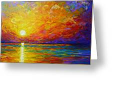 Orange Sunset Greeting Card