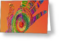 Orange Swirl Hand Greeting Card