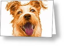 Orange Terrier Mix 2989 - Wb Greeting Card